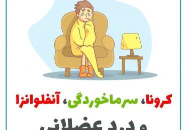 کرونا، سرماخوردگی، آنفلوانزا و درد عضلانی